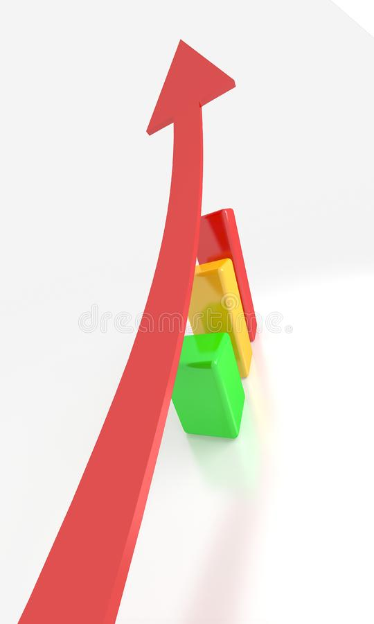 3d graph stock photography