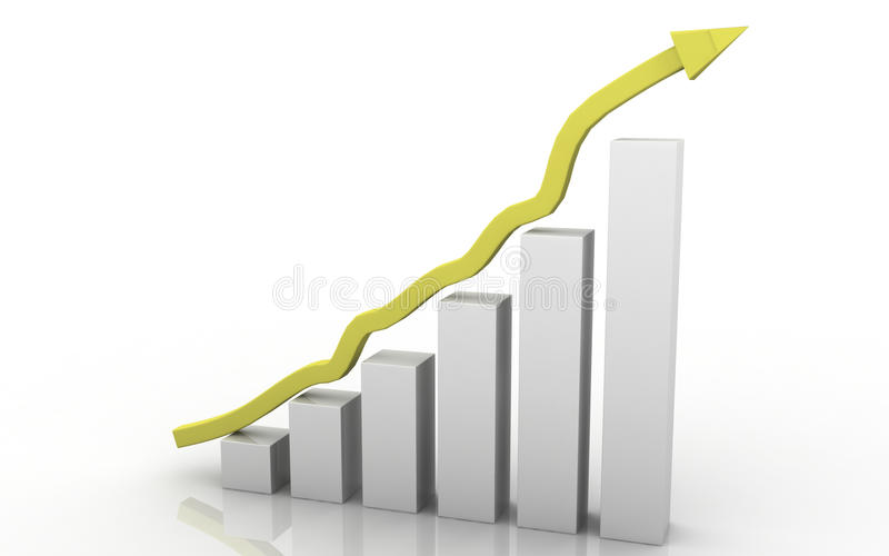 Download 3D GRAPH SHOWING RISE IN PROFITS OR EARNINGS Royalty Free Stock Images - Image: 14777119