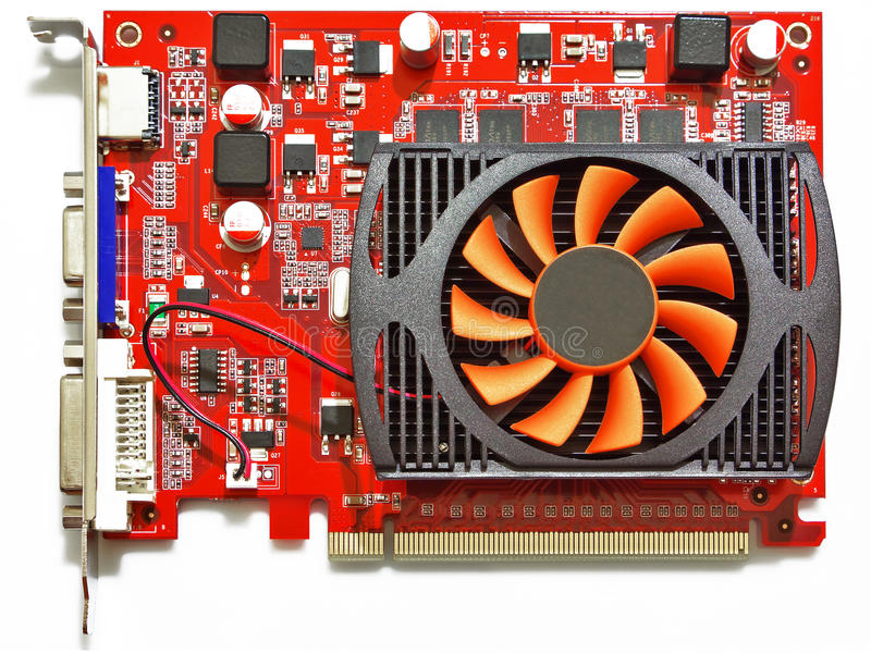 Download 3D graphic card stock photo. Image of object, pcie, acceleration - 18396488