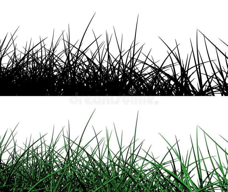 3d gras vector illustratie