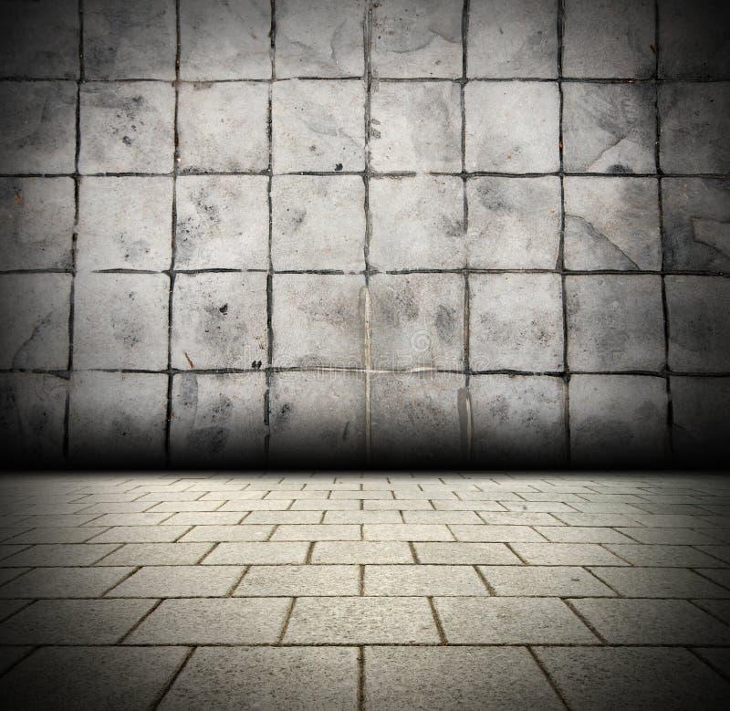 3D Gray Brick Wall Background Beam Light Design Te Stock Photography