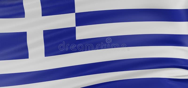 3D Greek flag stock illustration