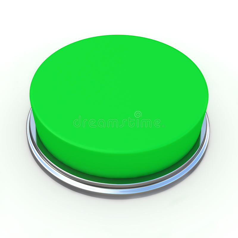 3d Green Button On White Background Royalty Free Stock
