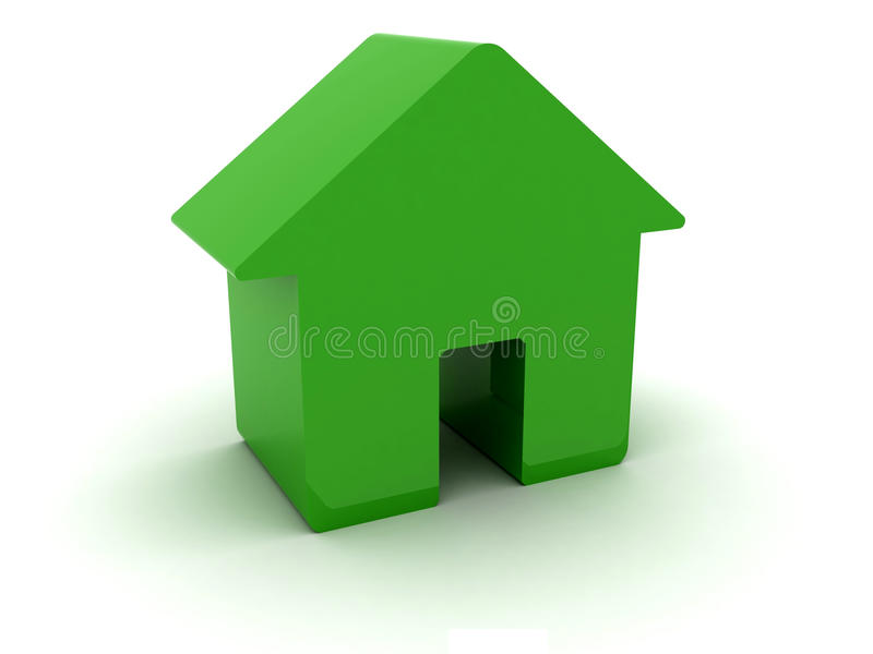 Download 3D green house. stock illustration. Image of green, dimensional - 28933423