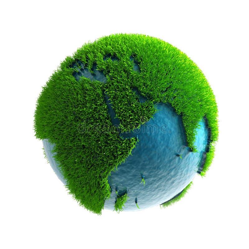 3D green planet Africa vector illustration