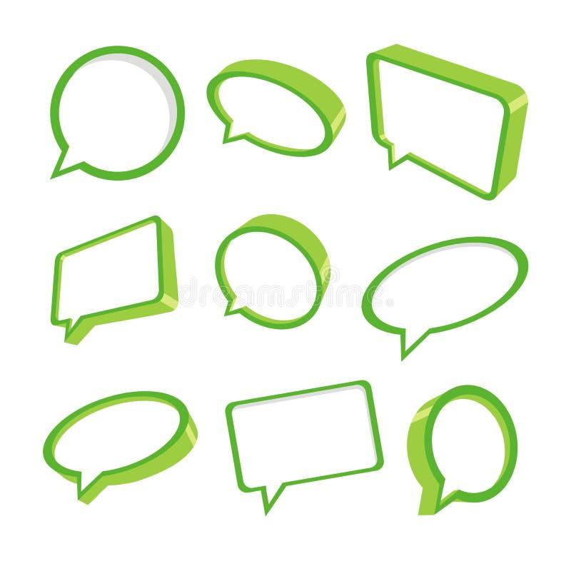 Download 3d green speech bubbles stock vector. Illustration of bubble - 22711492