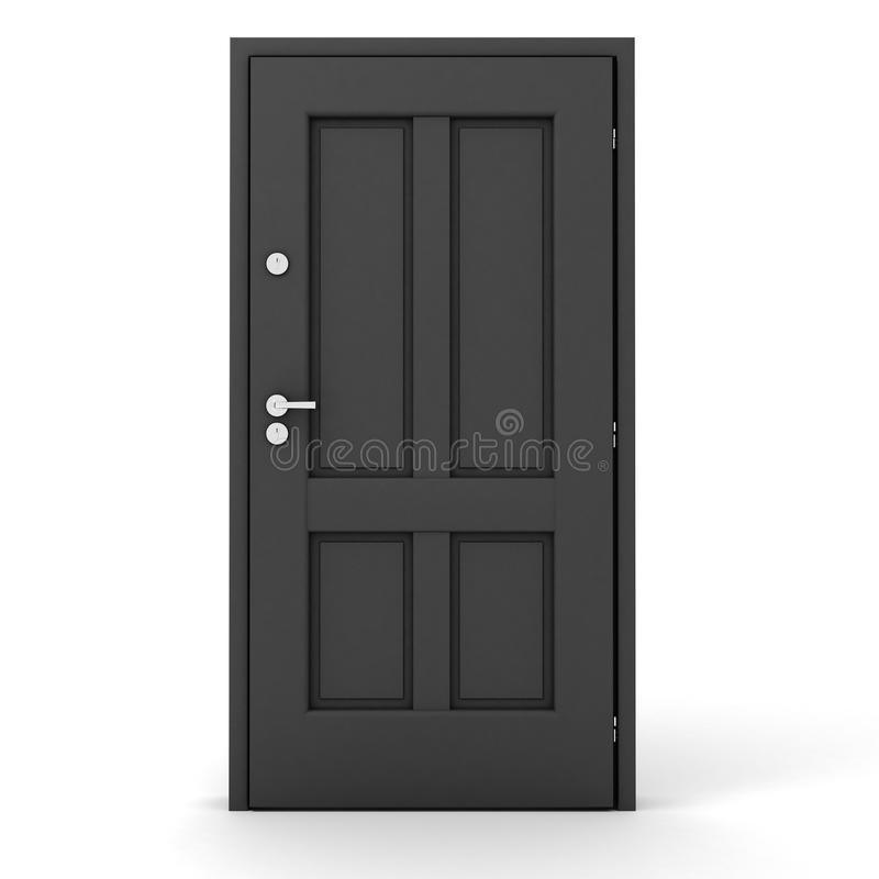 Download 3d Grey Door On White Background Stock Illustration - Image: 12817940