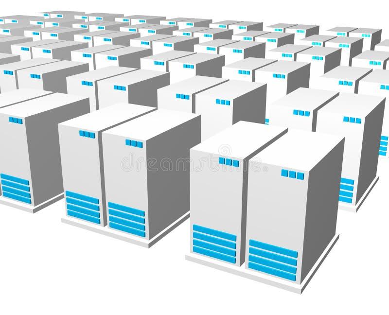 3d grijze blauwe server royalty-vrije illustratie