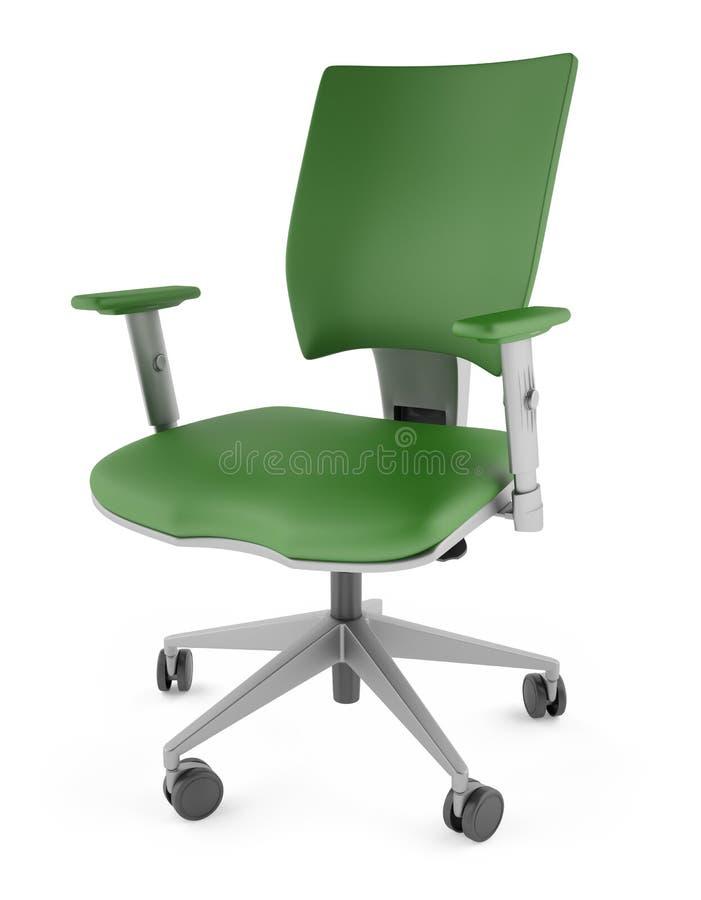 3D groene stoel op een witte achtergrond royalty-vrije stock afbeeldingen