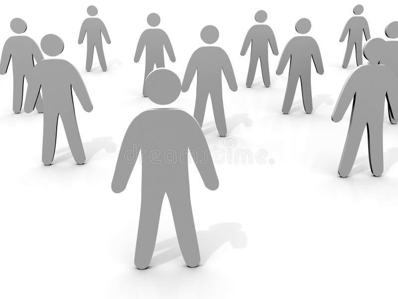 3D Groep mensen royalty-vrije illustratie