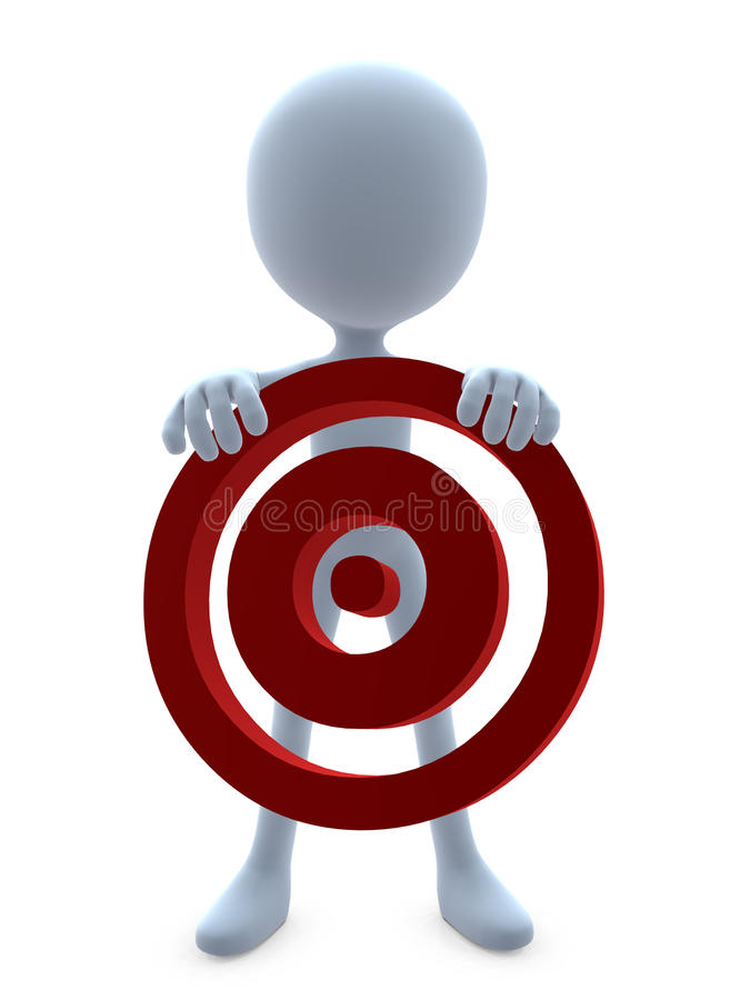 Download 3D Guy With A Bullseye stock illustration. Image of graphics - 16552872