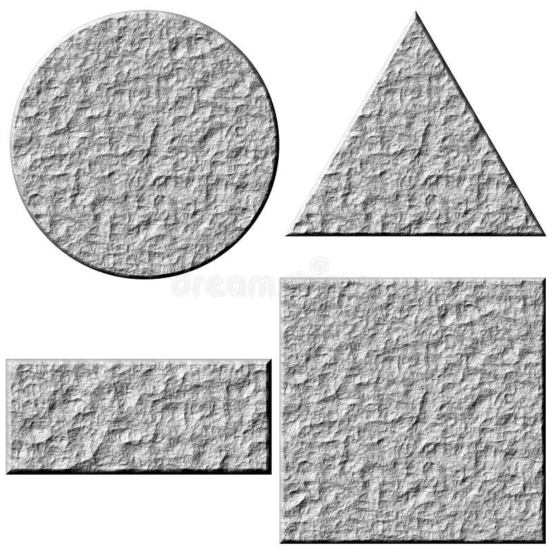 3d guzika kamień ilustracji
