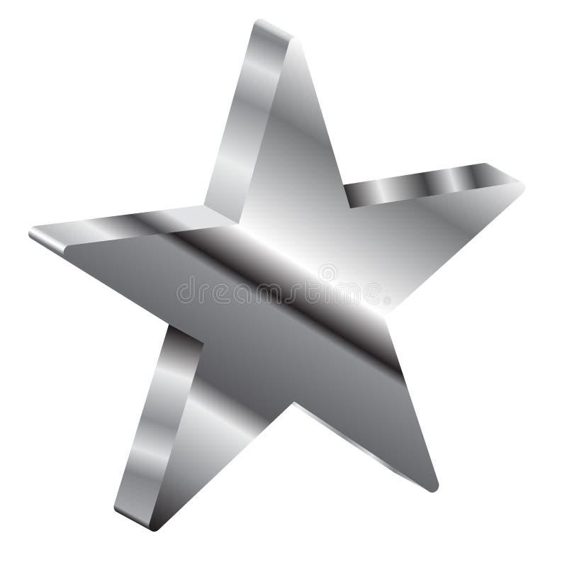 3d gwiazda royalty ilustracja