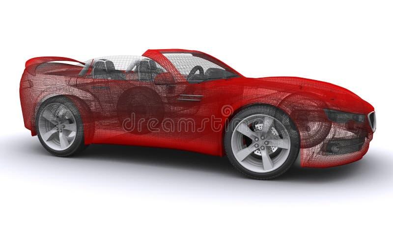 3D ha reso l'automobile sportiva di concetto fotografie stock