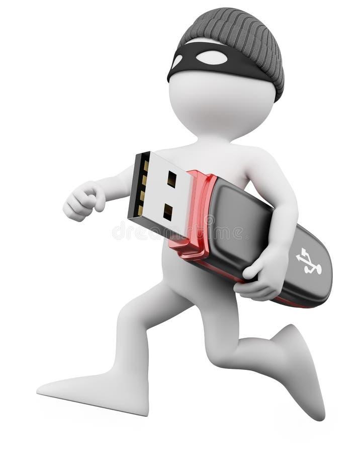 3d hackera złodziej ilustracji