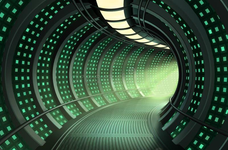 3D hallway stock illustration