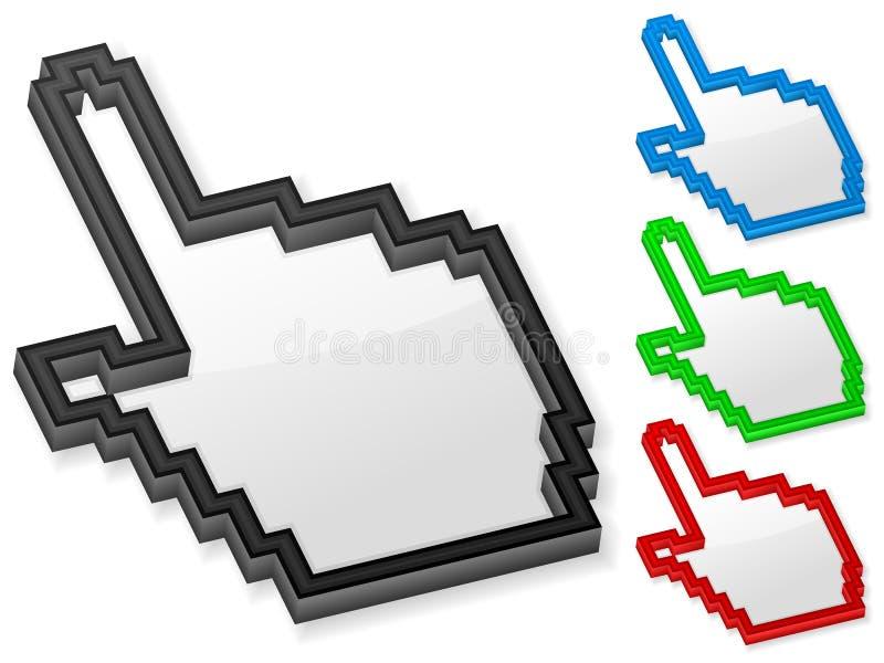 3d hand computer cursor stock illustration