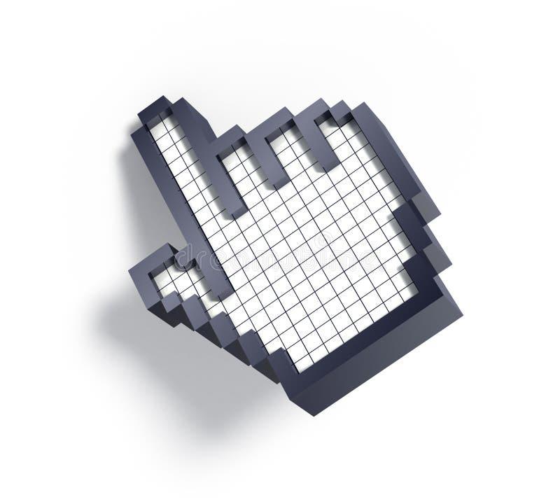 Download 3d hand cursor stock illustration. Illustration of sign - 11785619