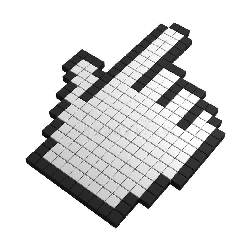 Download 3d Hand Pixel Icon Stock Photography - Image: 20383072
