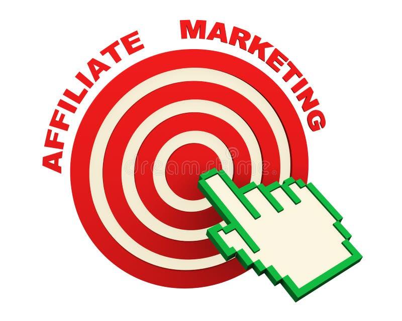 3d handcurseur en filiaal marketing doel vector illustratie