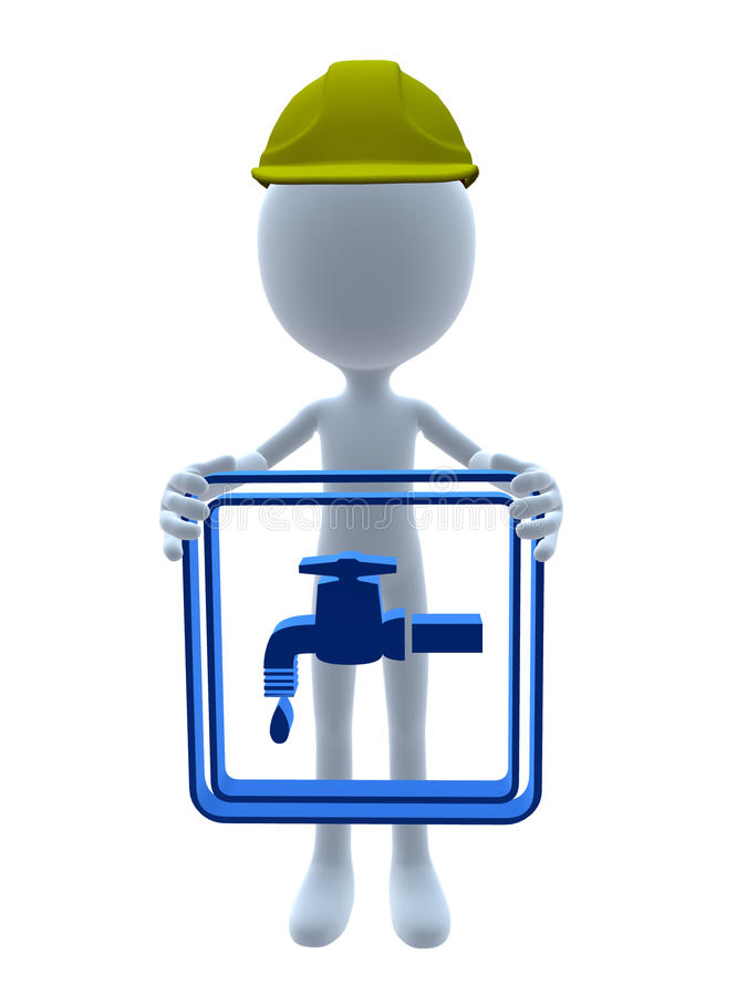 3D Hardhat Guy Royalty Free Stock Photography