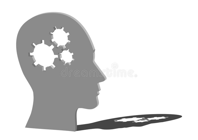 Download 3D head with cogwheels stock illustration. Image of idea - 21723383