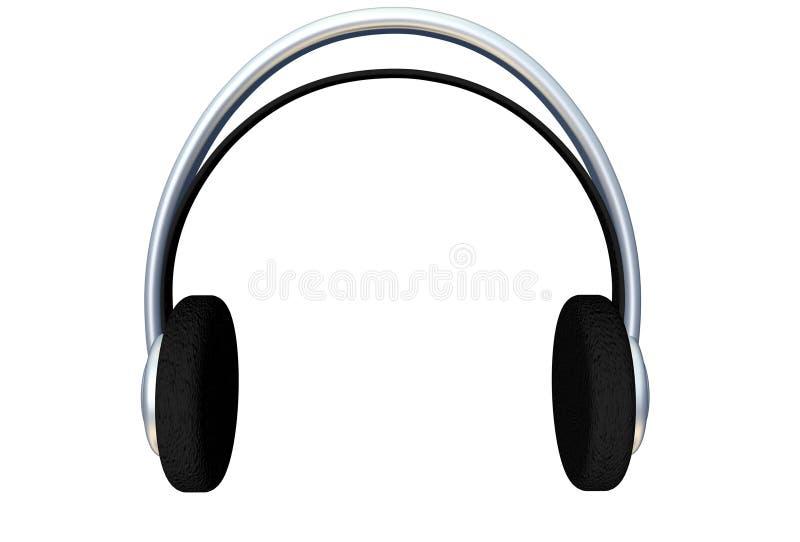 3d Headphones stock photography