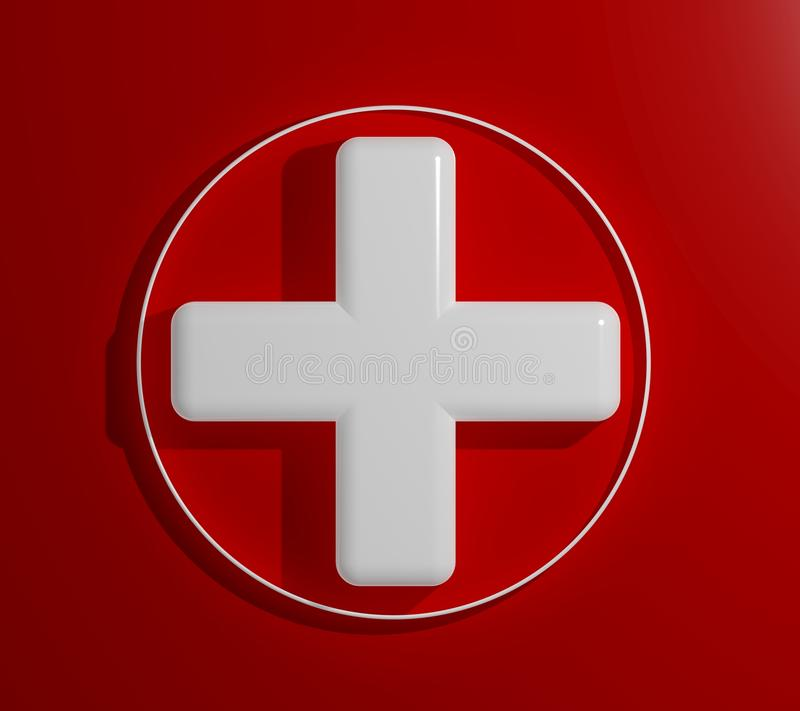 3d Health Cross Sign Stock Images