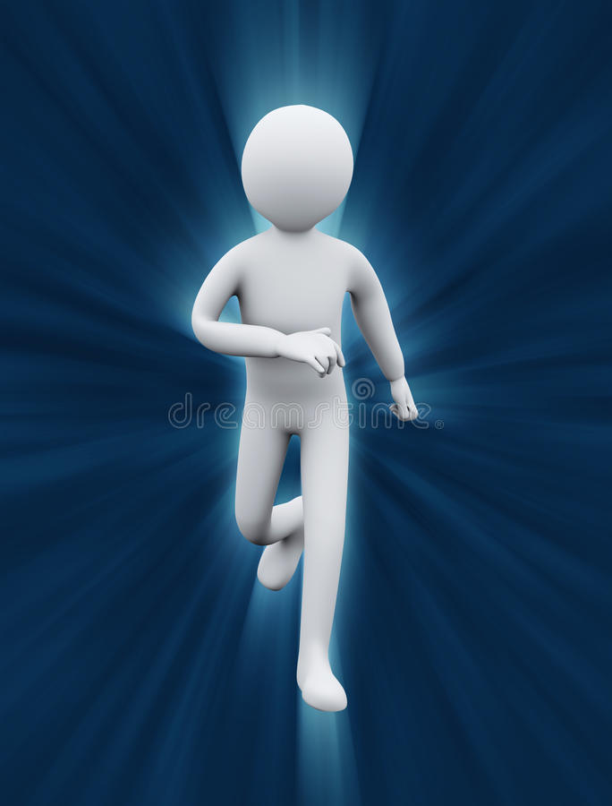 3d Healthy Man Running Royalty Free Stock Image