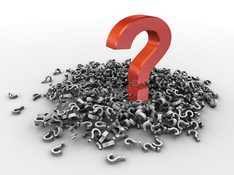 Download 3d heap of question marks stock illustration. Image of query - 22630767