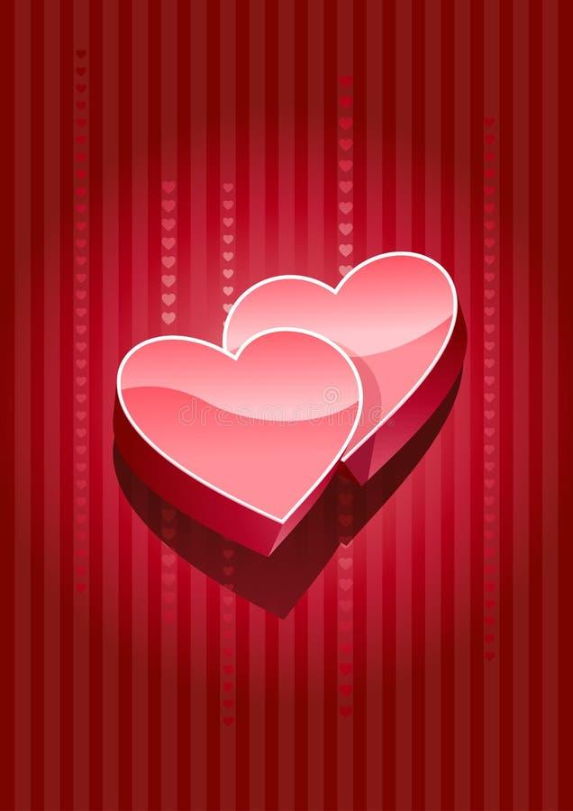 Download 3d hearts stock vector. Illustration of beautiful, darling - 22636323