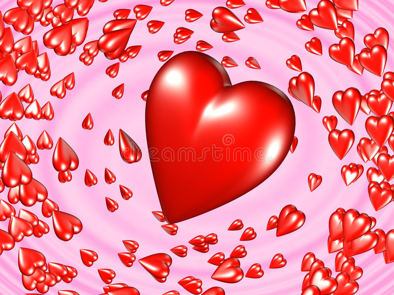 Download 3D Hearts stock illustration. Image of fashion, magnified - 586893
