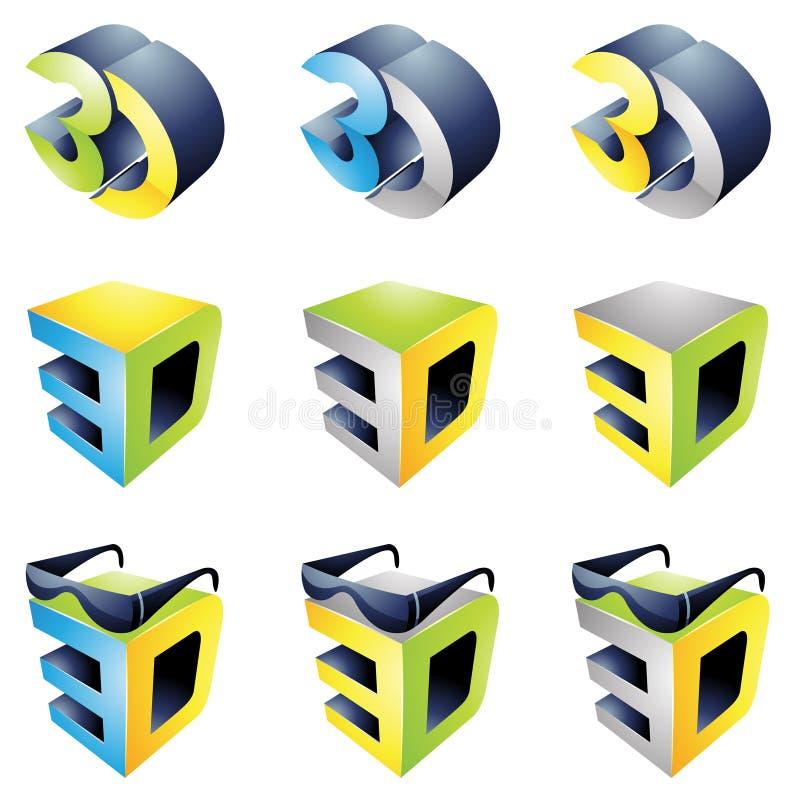 3D het Bekijken Ervaring vector illustratie