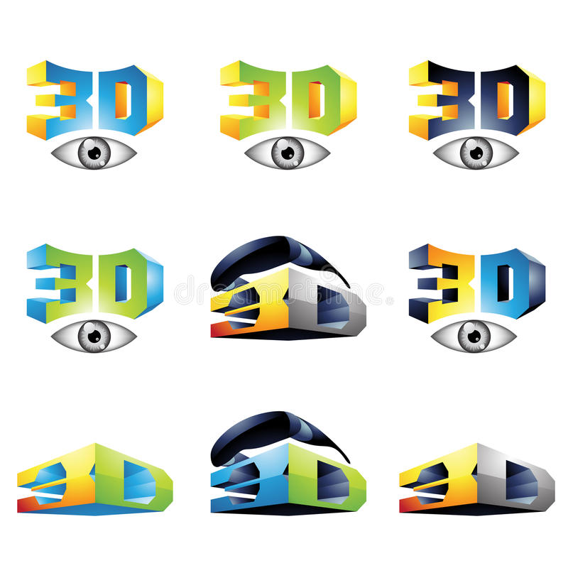 3D het Bekijken Ervaring 4 stock illustratie