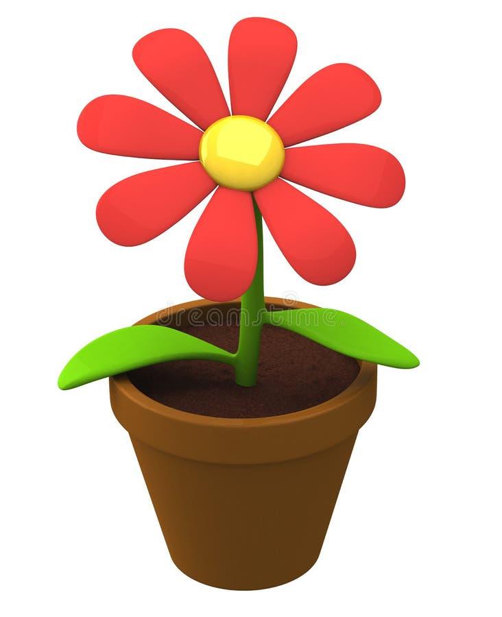 3d het pictogram van de bloem royalty-vrije illustratie