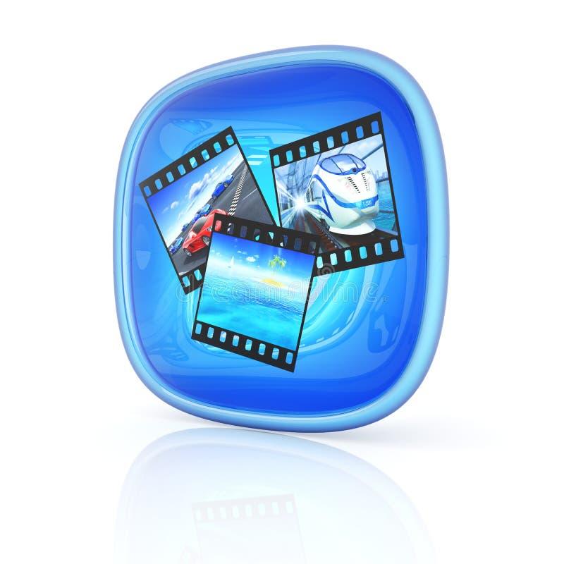 3d het pictogram van de foto royalty-vrije illustratie