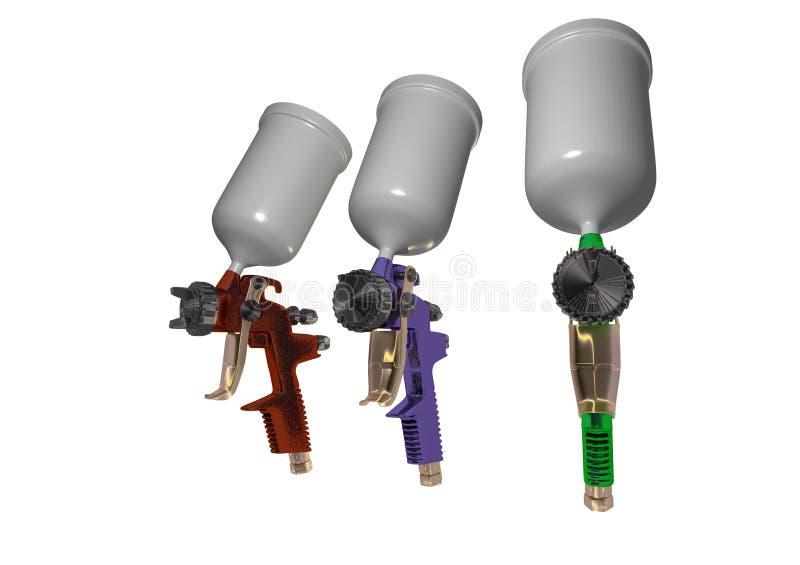 3d het pistool van de verf royalty-vrije illustratie