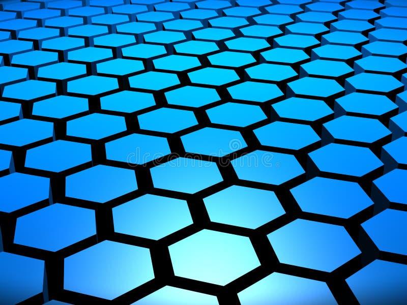Download 3D Hex Hexagon Hexagons Background Stock Illustration - Illustration: 6508006