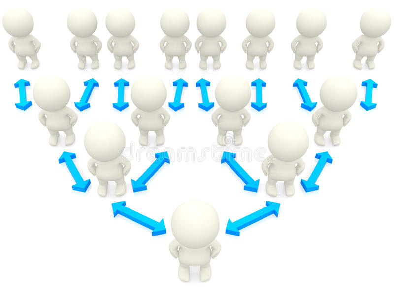 Download 3D hierarchy pyramid stock illustration. Illustration of performance - 15520117