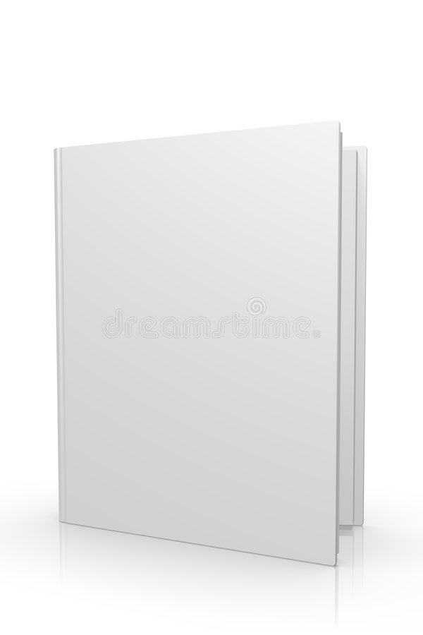 Free 3d High Quality Blank Magazine / Book Opened Royalty Free Stock Image - 8529896