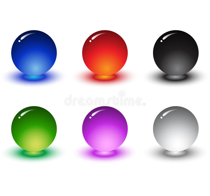 3D high quality sphere set. 3-Dimensional High Quality Sphere Set With Various Colors royalty free illustration
