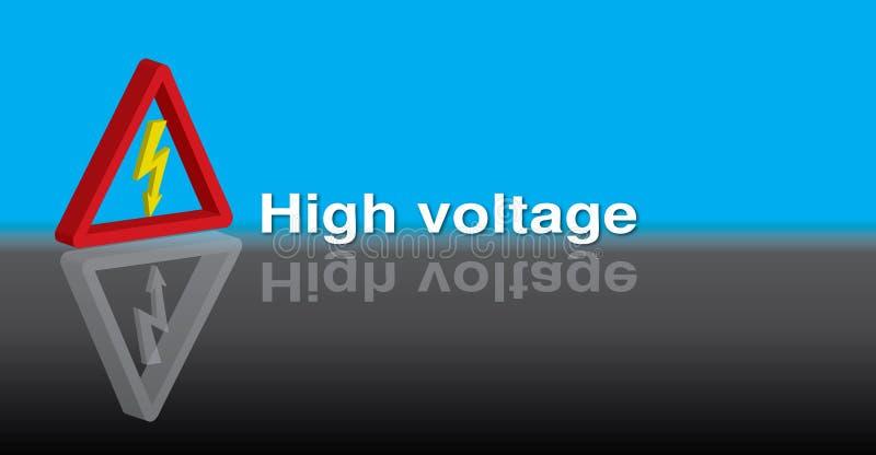 3D High Voltage royalty free illustration