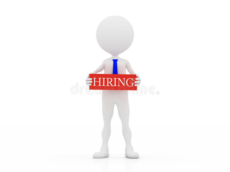 3d Hiring Person Royalty Free Stock Image