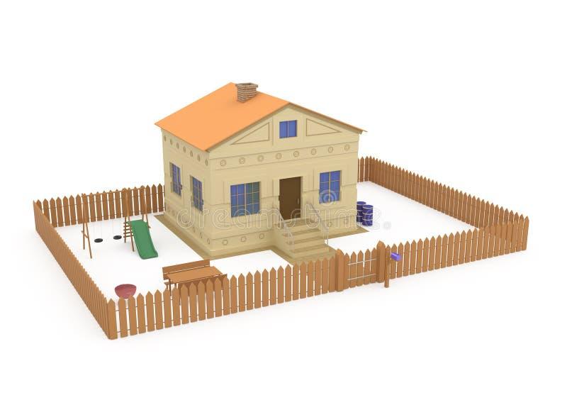Download 3d Home Exterior stock illustration. Image of color, built - 13938635