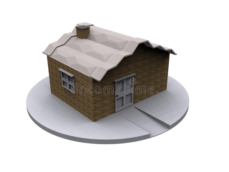 3d Home Model royalty free stock photo