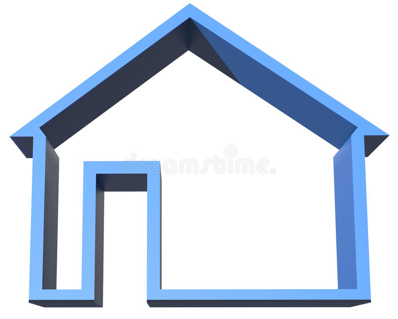3d home sign vector illustration