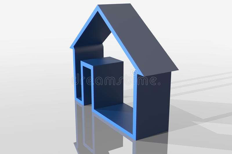 3d home sign stock illustration