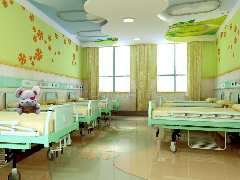 3d hospital children wards royalty free illustration