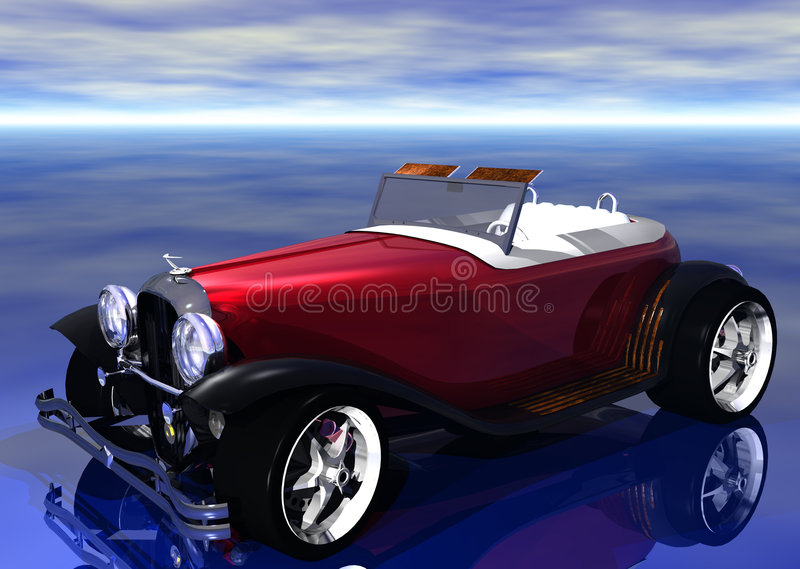 3D Hotrod royalty free illustration