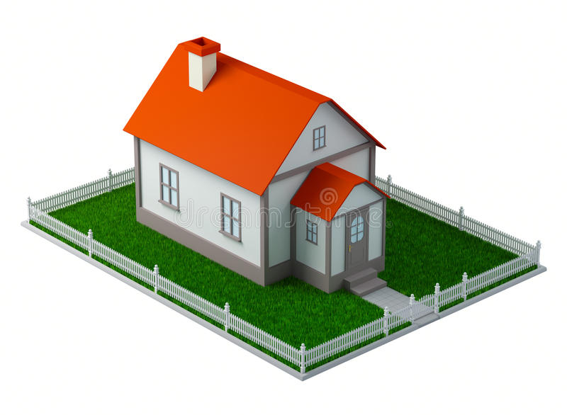 3d House royalty free illustration